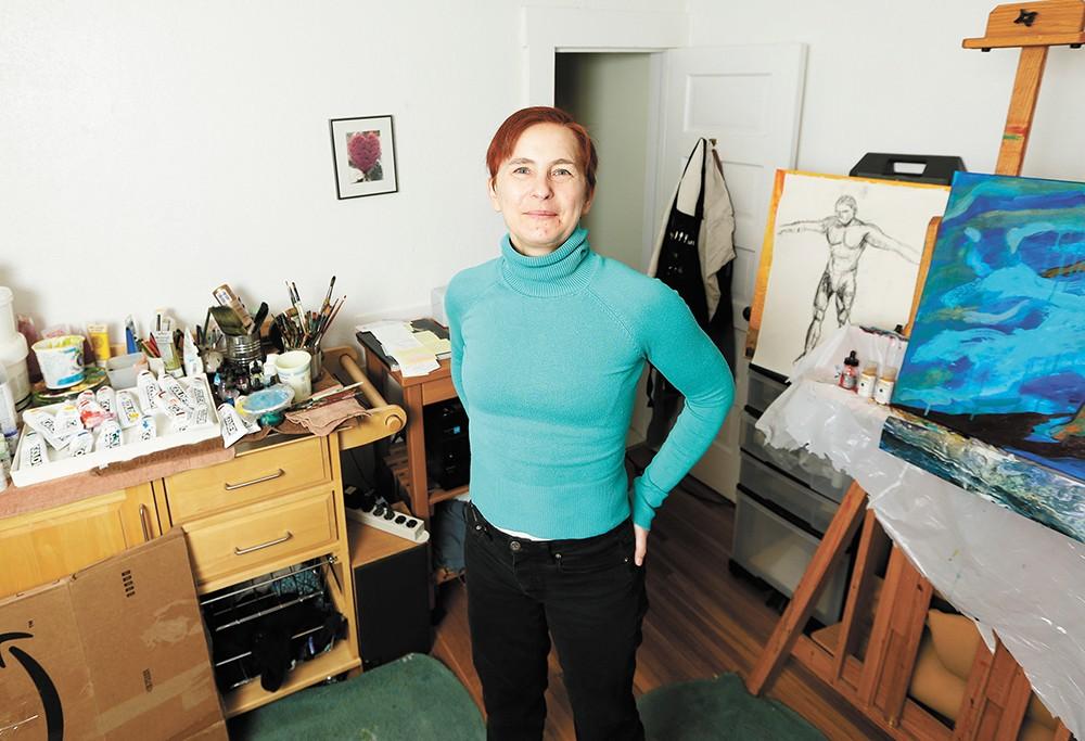 Ildikó Kalapács' new show focuses her artistic eye on the world's refugees. - YOUNG KWAK