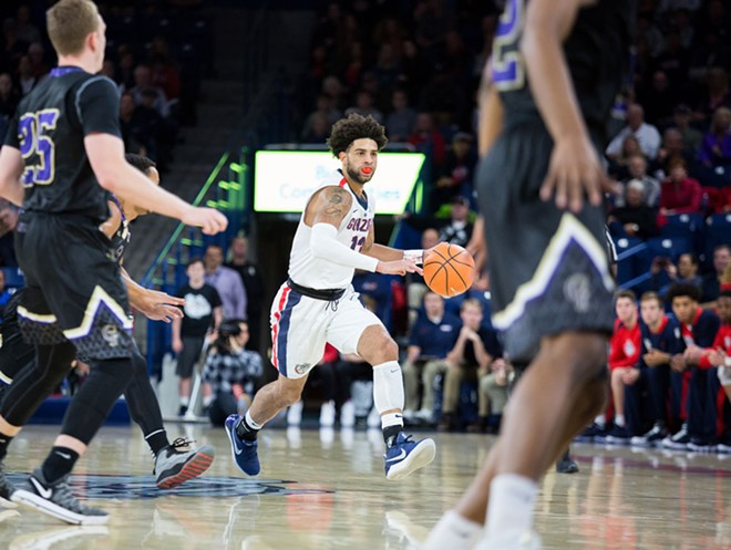 An efficient Josh Perkins is a lethal Josh Perkins, and he was one of the reasons the Zags beat BYU Saturday. - LIBBY KAMROWSKI