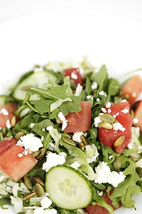 Find this watermelon salad on the Restaurant Week menu at Tortilla Union in downtown Spokane. - YOUNG KWAK