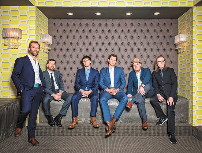 The Steep Canyon Rangers performed with the Spokane Symphony Saturday night.