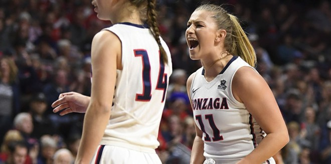 Laura Stockton and the Gonzaga women's team are going to March Madness. - GU ATHLETICS
