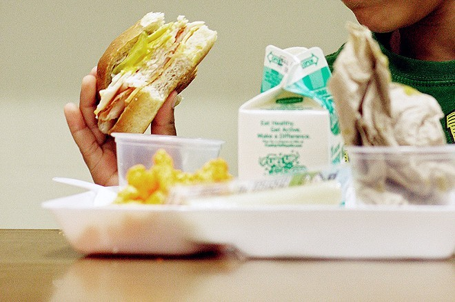 A new bill provides meals to students in high-poverty schools after the first bell, instead of before it - YOUNG KWAK
