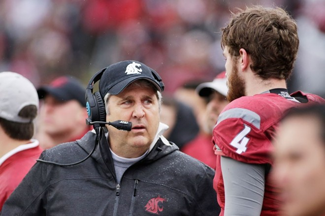 WSU's football coach Mike Leach