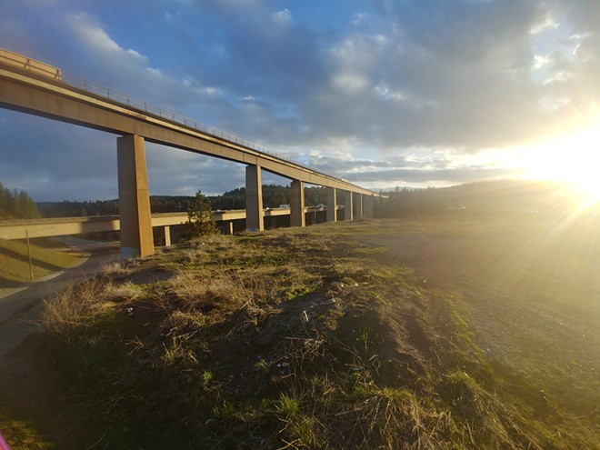 Train trestles at Sunset Highway near Browne's Addition - DANIEL WALTERS PHOTO