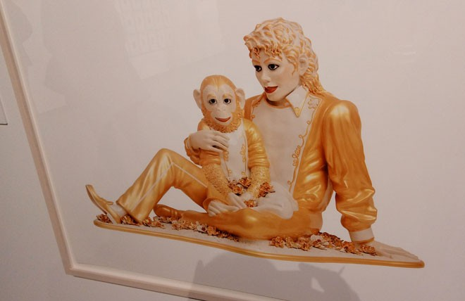 Jeffrey Koons' Michael Jackson and Bubbles - DAN NAILEN