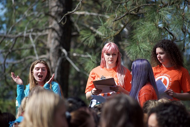 Marissa Kenney (left) Shaundra Russell and Dharma Hoy (right) helped organize the walkout - WILSON CRISCIONE