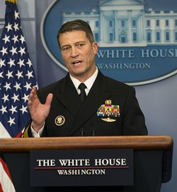 Dr. Ronny Jackson, the White House physician, discusses President Donald Trump's health at the White House in Washington, Jan. 16, 2018. - DOUG MILLS/THE NEW YORK TIMES