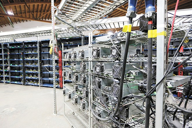 Mining hardware at Malachi Salcido's Columbia Data Center in Wenatchee. Central Washington has been a prime location for bitcoin miners due to the cheap electricity. - YOUNG KWAK