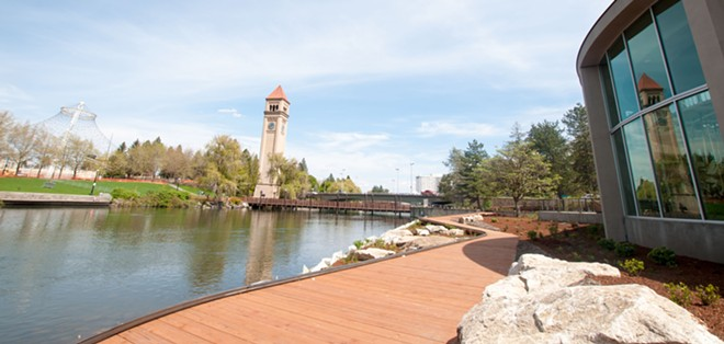 Riverfront Park will be open today, complete with the Garbage-Eating Goat! - DANIEL WALTERS PHOTO