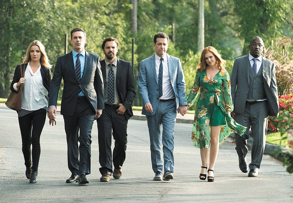 Buress, far right, is one of the stars in the Spokane-inspired movie Tag.