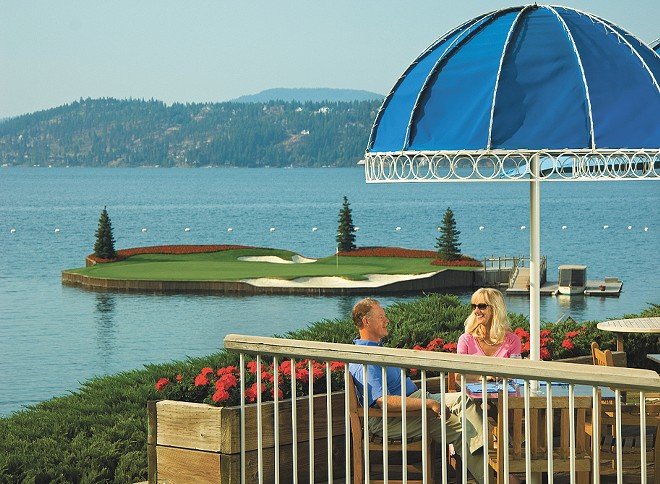 The Floating Green Restaurant is open to golfers and non-golfers alike breakfast through dinner.
