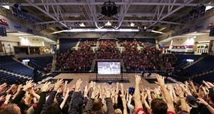 Gonzaga Fans Watch Championship Game At The McCarthey Athletic Center