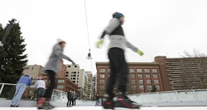 Saturday at the Riverfront Park Ice Ribbon on the Opening Weekend
