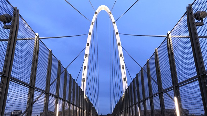 Pedestrian bridge connecting Spokane University District with East Sprague opens