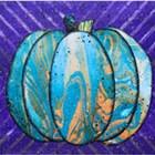 Marbled Paper Pumpkin Class