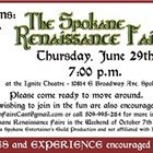 AUDITIONS: The Spokane Renaissance Faire