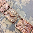 Embossed Copper Soldered Bracelet, Beginner Class