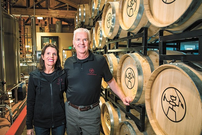 Mary and Rich Clemson founded Warrior Liquor last year.