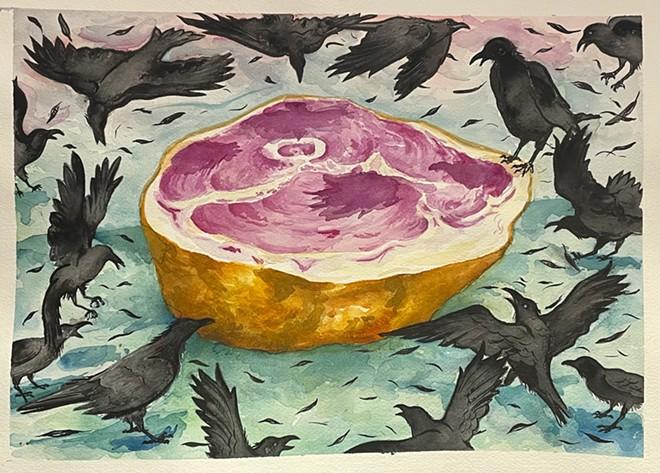 Spoils by Michael Azzano, watercolor