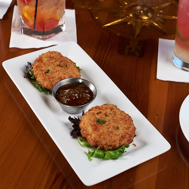 The Panko breaded crab cakes are a customer favorite.