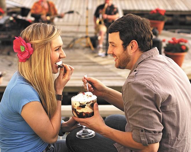 The Gooey ice cream sundaes are best shared.