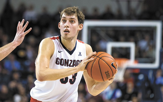 Kyle Wiltjer, the Zags long-range man.