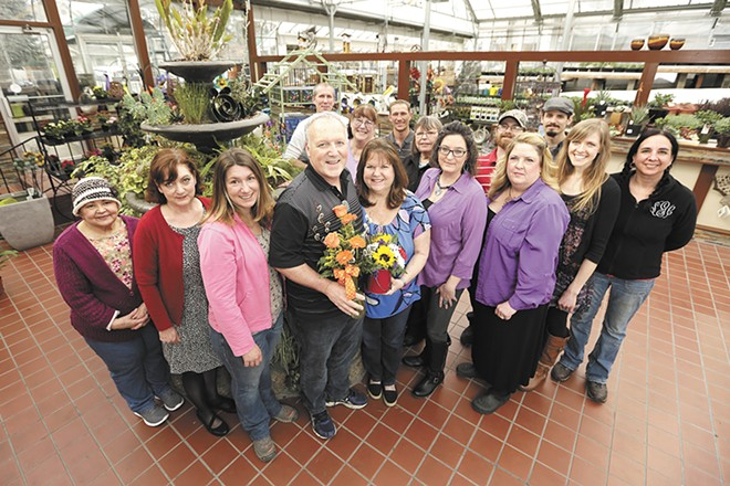Co-Owners Jim and Kellee Alice (center; holding the flowers) and their award-winning team. - YOUNG KWAK