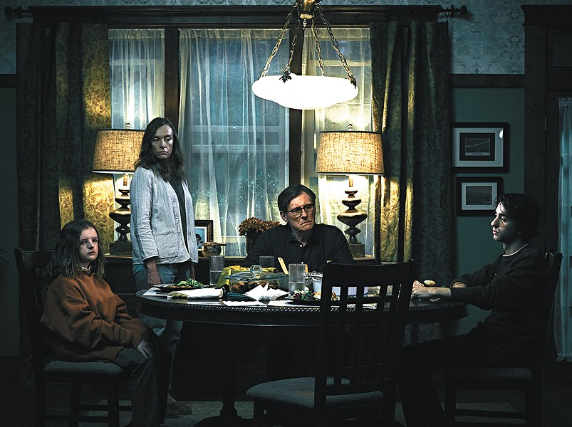 Awkward family dinners have never looked so chilling.