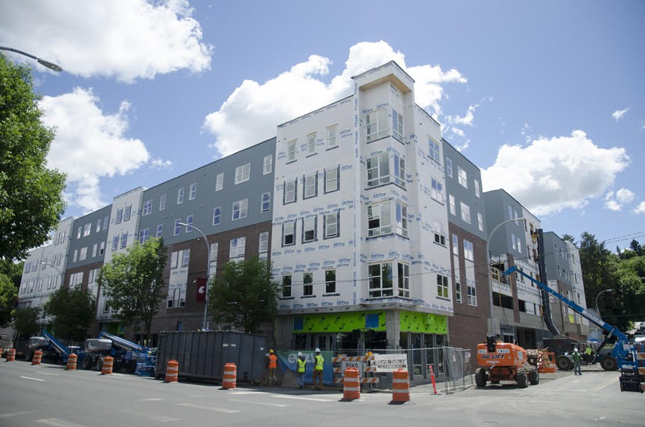 The new Evolve building, located just across the street from the Mimosa. - JACOB JONES PHOTO