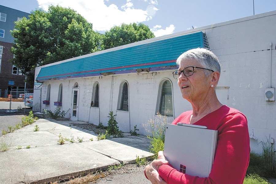 Mimosa building owner Nancy Swanger. - JACOB JONES PHOTO