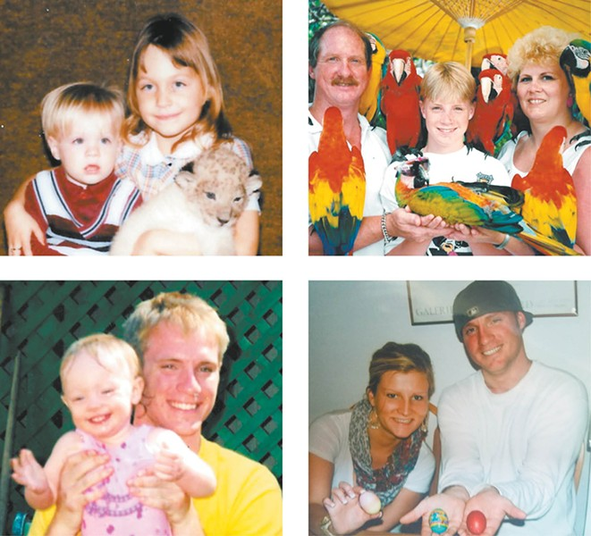 Family photos of Patrick Flynn with family and friends.