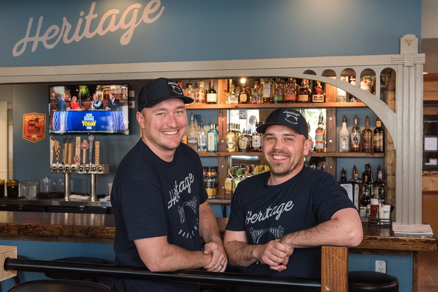 Owners Gabe Wood (left) and Alex King at Heritage Bar & Kitchen. - ERICK DOXEY PHOTO