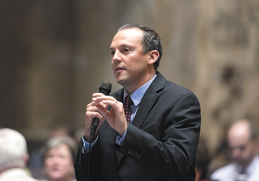 """State Rep. Marcus Riccelli, who successfully led the effort to expand Spokane's County Commission, dismisses Al French's criticisms: """"This is a threat to his power."""" - WASHINGTON STATE HOUSE DEMOCRATS"""