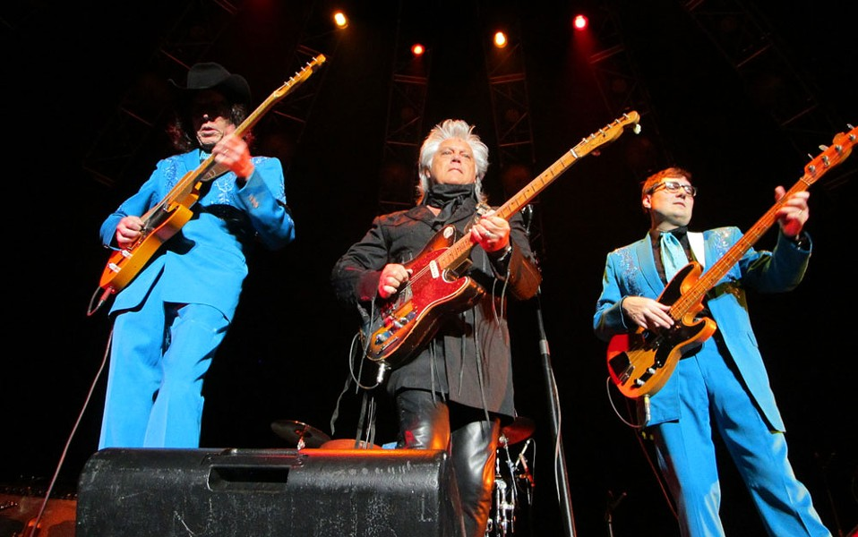 Marty Stuart and two of his Fabulous Superlatives. - DAN NAILEN