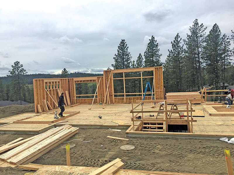 Johnna Nickoloff documented the entire construction process of her family's custom home in south Spokane. - JOHNNA NICKOLOFF PHOTO