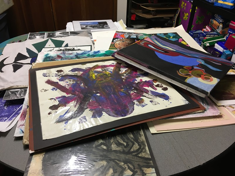 VOA staff are sorting through decades of artwork from homeless women and youth for the upcoming Eye Contact: Homeless Art Exhibit.