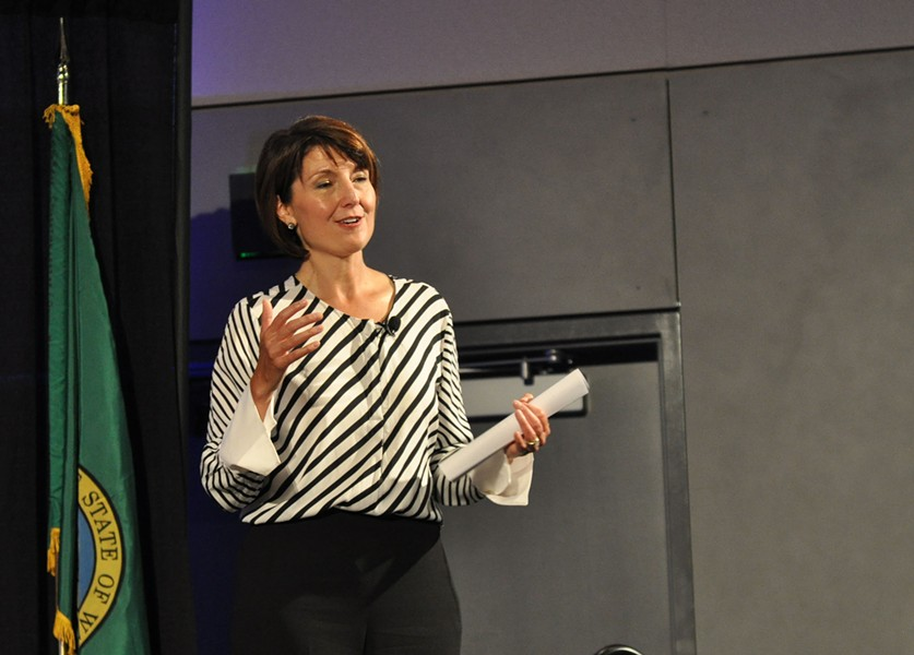 Rep. Cathy McMorris Rodgers at her annual August town hall meeting last Thursday. - DANIEL WALTERS PHOTO