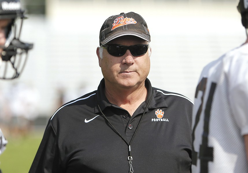 """Lewis and Clark coach Dave Hughes says he has """"no problem"""" talking with parents about concussion safety. - YOUNG KWAK"""