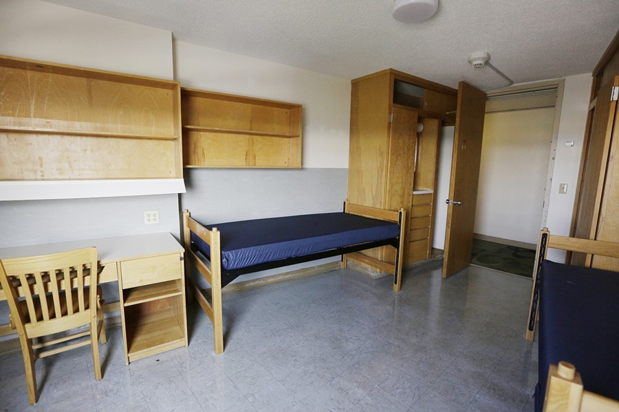 A dorm room at Eastern Washington University's Dressler Hall in Cheney. - YOUNG KWAK