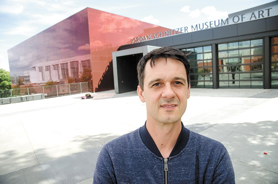 Ryan Hardesty, curator of arts and exhibitions at WSU's new museum. - JACOB JONES PHOTO