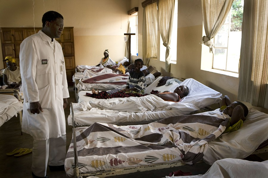 Dr. Denis Mukwege visits with patients at Panzi Hospital in Bukavu, Democratic Republic of Congo, on Sept. 22, 2007. The 2018 Nobel Peace Prize was awarded Friday, Oct. 5, 2018, to two campaigners against wartime sexual violence: Mukwege, 63, a Congolese gynecological surgeon, and Nadia Murad, 25, who became the bold voice of the women who survived sexual violence by the Islamic State group. - HAZEL THOMPSON/THE NEW YORK TIMES