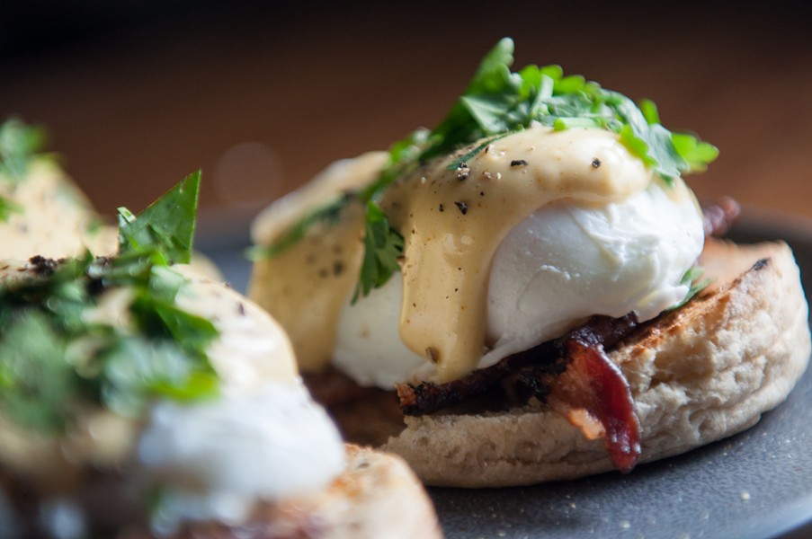 Eggs benedict - DANIEL WALTERS PHOTO