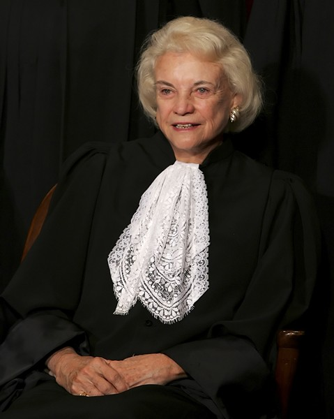 Justice Sandra Day O'Connor, at the Supreme Court in Washington, Oct. 31, 2005. O'Connor, the first woman to serve on the U.S. Supreme Court, disclosed that she had dementia and would withdraw from public life in a letter to the public on Oct. 23, 2018. - DOUG MILLS/THE NEW YORK TIMES