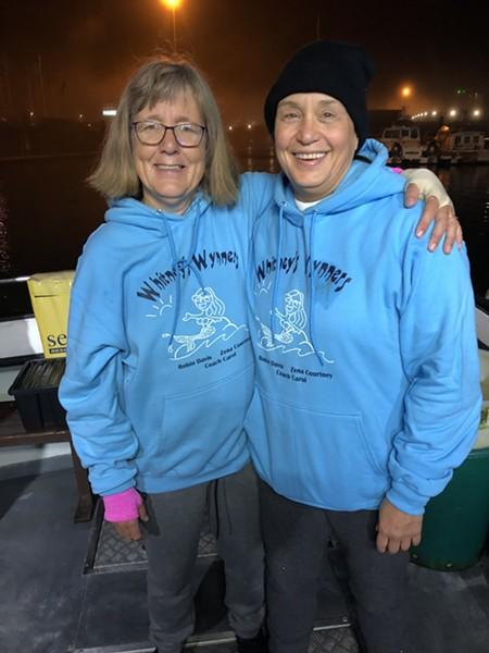 Robin Davis and her swimming partner, Zena Courtney. - COURTESY OF ROBIN DAVIS