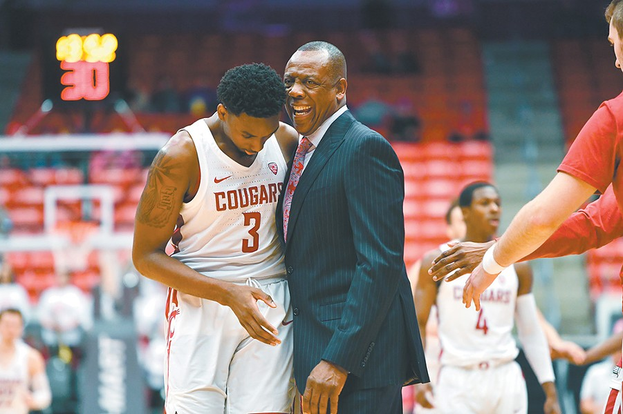 Ernie Kent (right) and Robert Franks. - WSU ATHLETICS PHOTO