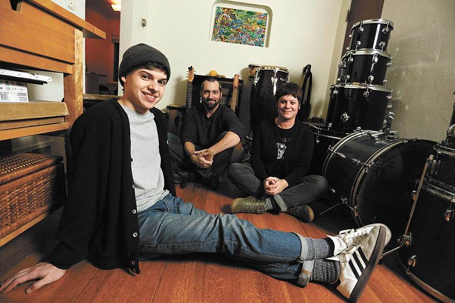 BaLonely is the brainchild of Norman Robbins, left, who performs alongside drummer Cody Brooks and bassist Kristin Robbins (also his mom). - YOUNG KWAK