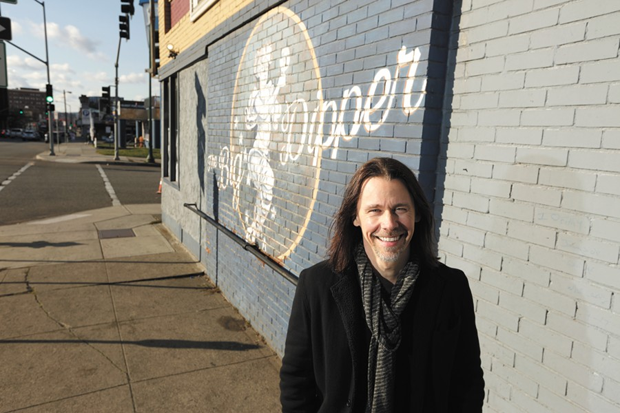 Myles Kennedy outside the Big Dipper, a place that inspired him to pursue original music years before he got to play there. - YOUNG KWAK