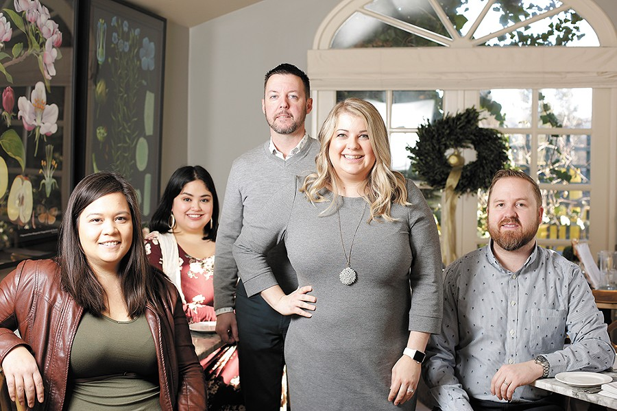 Foodie friends, activate! (From left) Kacey Rosauer, Ashley Buckner, Rob Peterson, Erin Peterson and Colby Rosauer. - YOUNG KWAK