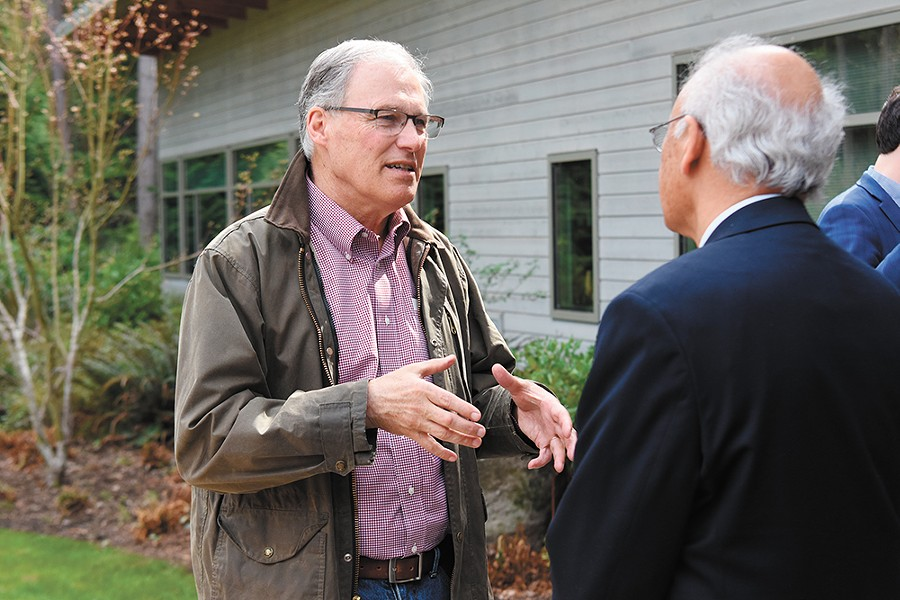 With the field getting a little crowded, Jay Inslee has work to do to stand out as a candidate. - WASHINGTON STATE GOVERNOR PHOTO