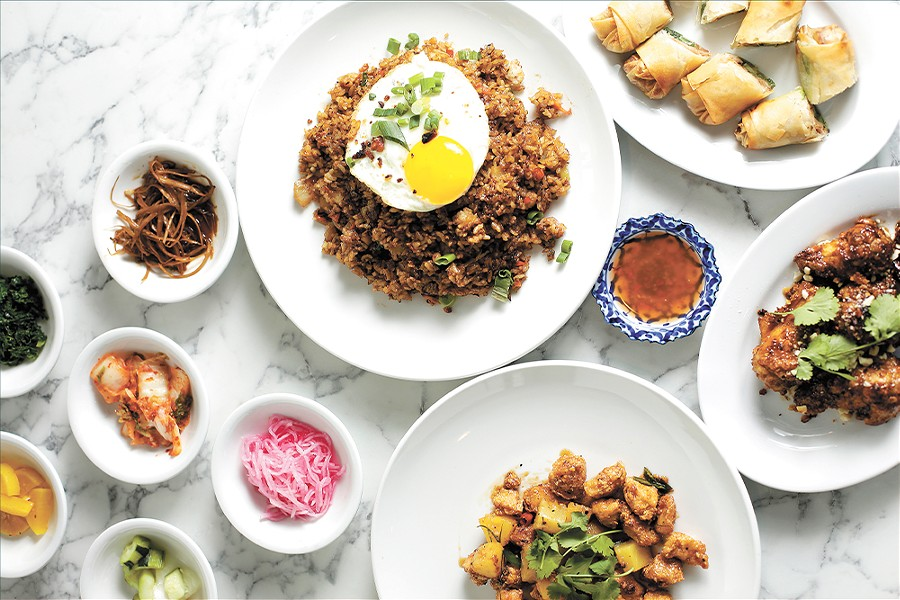 A spread of D'Bali's colorful, flavorful Southeast Asian fare. - YOUNG KWAK